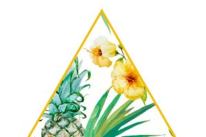 Tropical Triangle Premade Logo