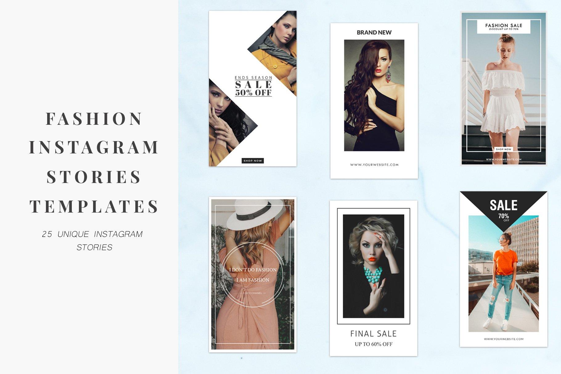 Fashion Instagram Stories Templates ~ Instagram Templates ...