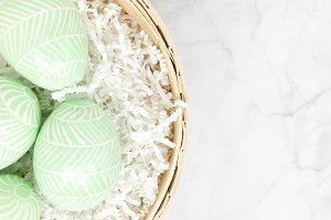 Mint Easter Egg Stock Photo