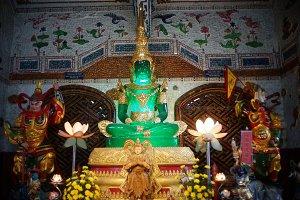 Green Buddha in Vietnam