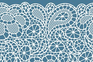 Vintage fashion lace patterns.