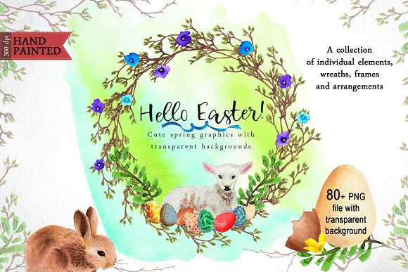 Hello Easter Decoration Pack