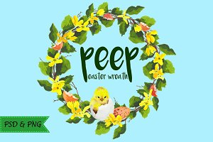 Peep - Easter wreath