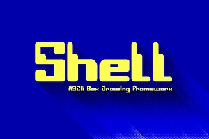 Shell - ASCII Box Drawing Framework