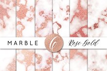 Marble and Rose Gold Clipart