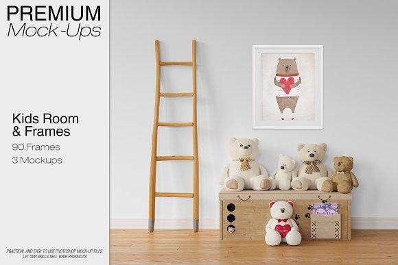 Kids Room Wall 90 Frames