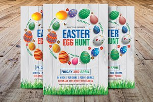 Easter Egg Hunt Party Flyer