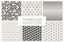 Triangular Seamless Patterns Set 3