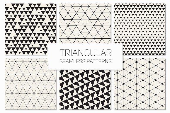 Triangular Seamless Patterns Set 3