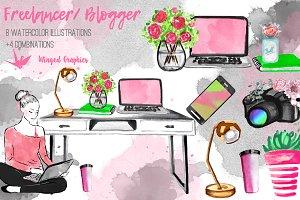 Freelancer / blogger set