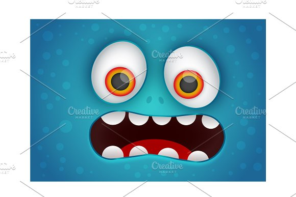 Funny Monster Face Design