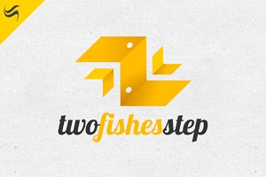 Two Fishes Logo Template