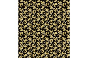 Floral Fine Seamless Vector Pattern