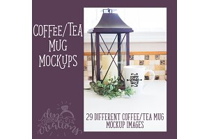 Coffee Mug Mockup - rustic farmhouse