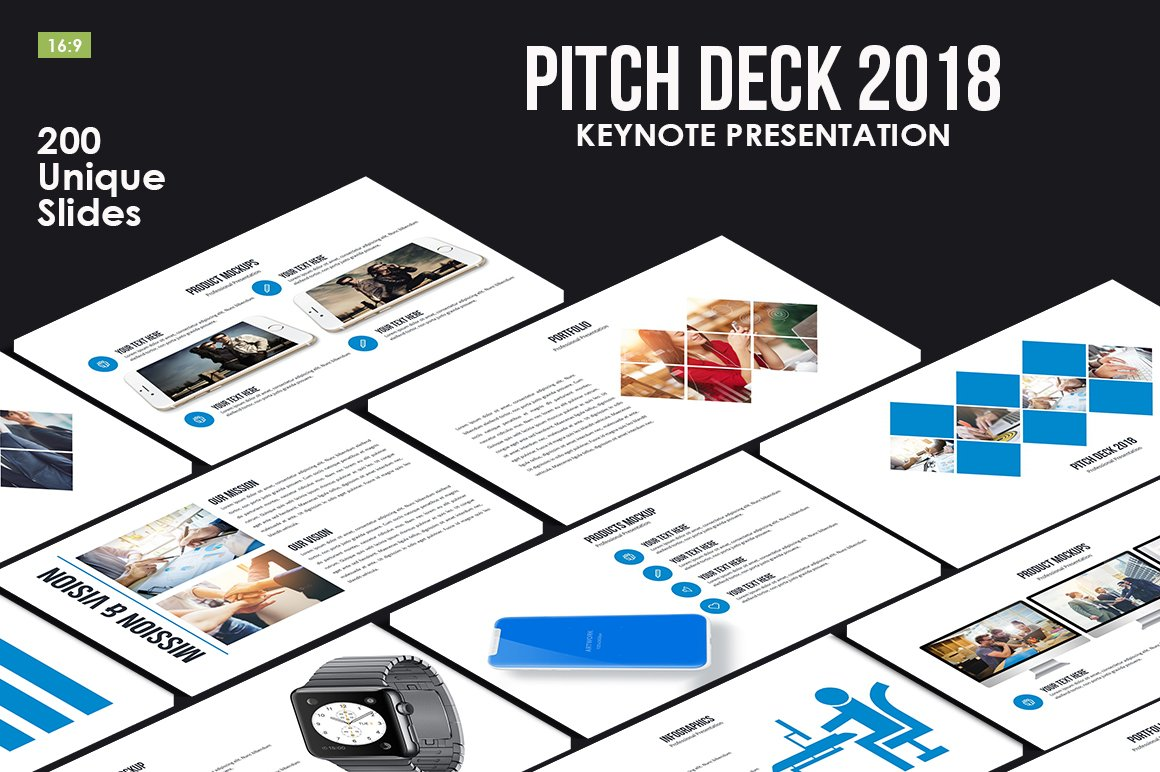 Pitch Deck 2018 Keynote Template ~ Presentation Templates ~ Creative ...