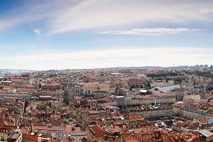 Panorama shot of Lisbon, Portugal