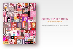 Musical Pop-Art Design