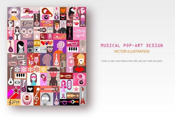 Musical Pop-Art Design