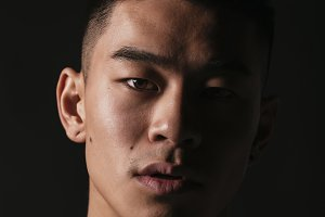 Portrait of young asian boy.