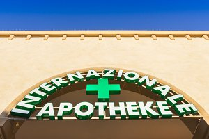 Italian Pharmacy Sign and Shop