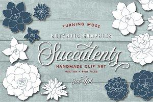 Succulent Clip Art - Botanic Vectors