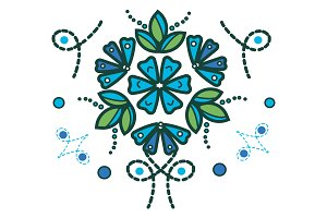 Blue Leaves Design