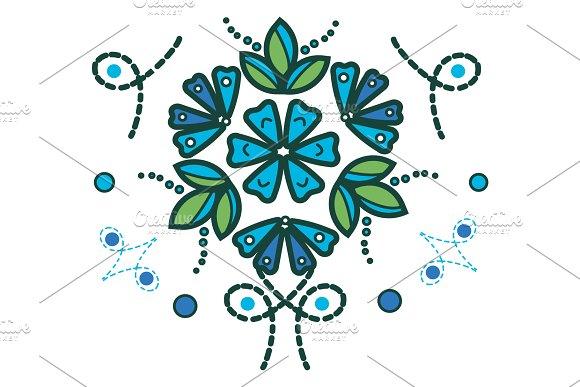 Blue Leaves Design