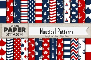 Nautical Digital Paper Backgrounds