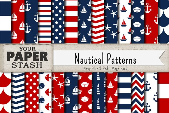 Nautical Digital Paper Backgrounds