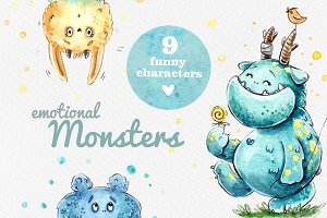 Emotional Monsters : 9 characters
