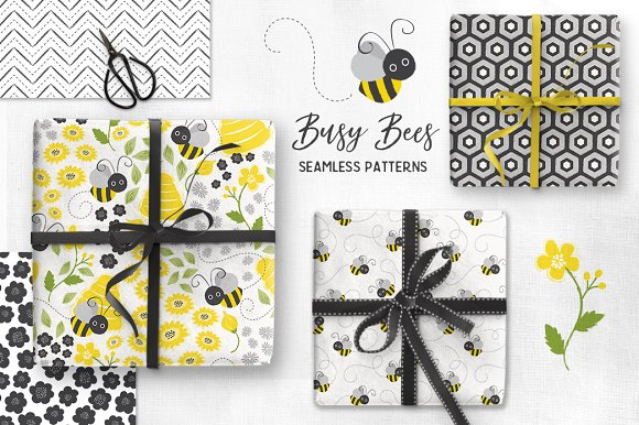 Busy Bees Baby Vector Patterns
