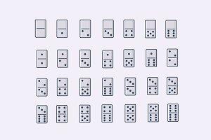 28 Domino Icons
