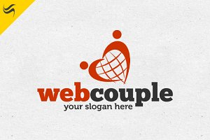 Web Couple Logo Template