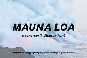 Vintage Hawaiian Font: Mauna Loa