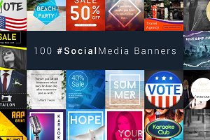 100 Social Media Banners Bundle