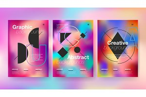 Modern abstract covers set
