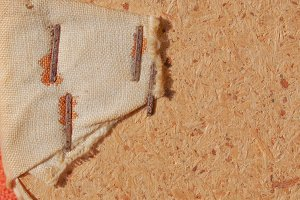 Brown hessian burlap background