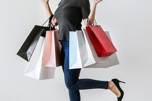 Woman enjoy shopping