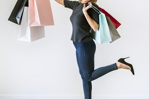 Woman enjoy shopping