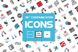 36x3 Communication icons