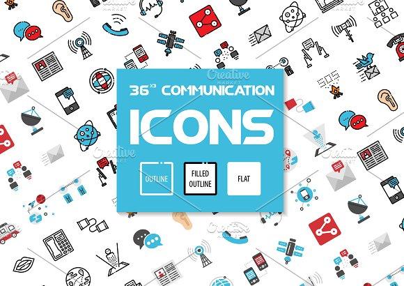 36x3 Communication Icons