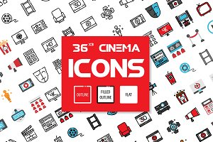 36x3 Cinema icons