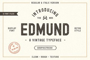 The Edmund - 6 Font Files