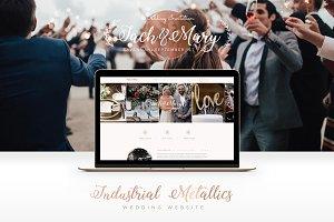 Industrial Metallics Wedding Website