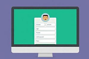 Registration form Vector flat