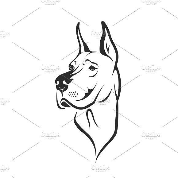 Vector Of A Dog Head