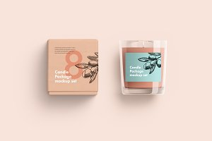 Candles Package Mockup set