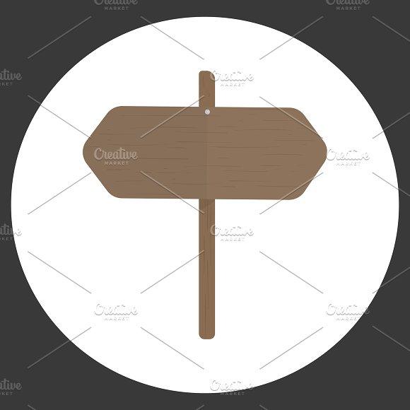 Illustration Of Blank Sign Vector