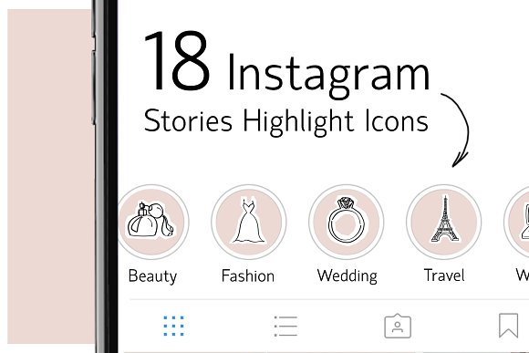 18 Instagram Stories Highlight Icons