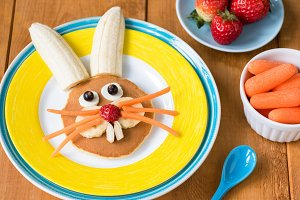 Funny healthy breakfast for kids